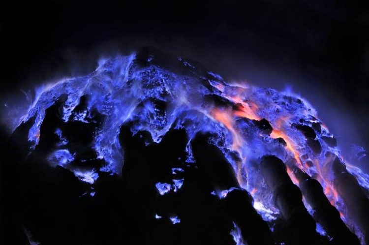 Ijen Crater Blue Fire
